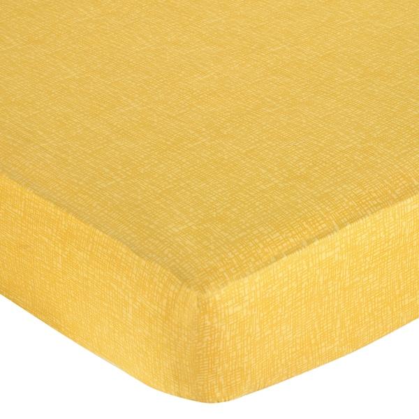 Sweet JoJo Designs Jungle Friends Yellow Hatch Fitted Crib Sheet Sweet Jojo Designs Baby Bed Sheets