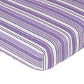 Sweet JoJo Designs Purple and Black Kaylee Stripe Fitted Crib Sheet