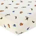 Sweet JoJo Designs Jungle Time Animal Print Fitted Crib Sheet