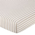 Sweet JoJo Designs Little Lamb Stripe Fitted Crib Sheet
