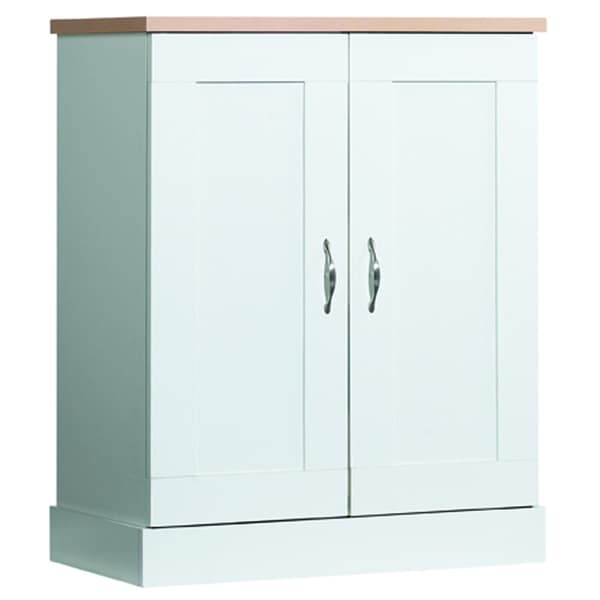 Akada white kitchen home organizer storage utility cupboard base pantry cabinet ebay - White kitchen storage cabinet ...