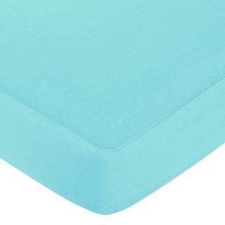 Sweet JoJo Designs Turquoise Fitted Crib Sheet