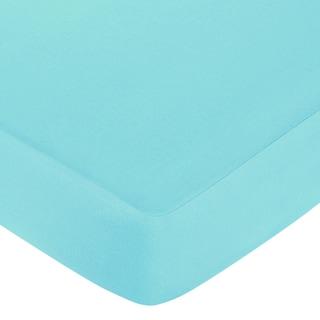 Sweet JoJo Designs Turquoise Fitted Crib Sheet