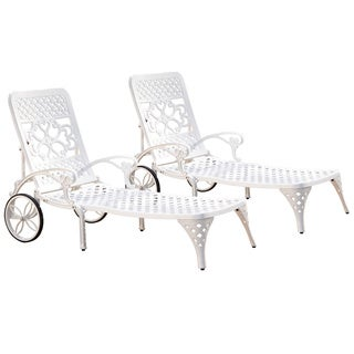 Home Styles Biscayne Chaise Lounge Chairs (Set of 2)