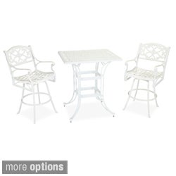 Biscayne Space Saving Rectangle 3-piece Bistro Set