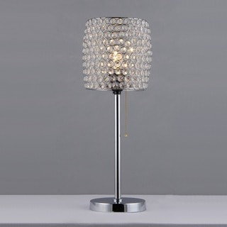 Cleopatra Purple Crystal Table Lamp