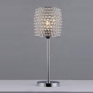 Cleopatra Purple Crystal Table Lamp