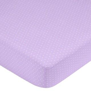 Sweet JoJo Designs Purple Mini Dot Fitted Crib Sheet
