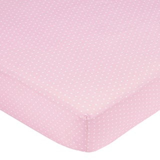 Sweet JoJo Designs Pink Mini Dot Fitted Crib Sheet