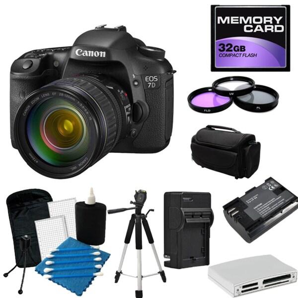 Canon EOS 7D Pro Digital SLR Camera with 28-135MM Lens Bundle
