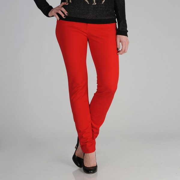 E39 by Eric Women's Red Stretch Denim Jeans