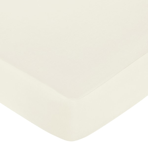 Sweet JoJo Designs Night Owl Natural Ivory Fitted Crib Sheet