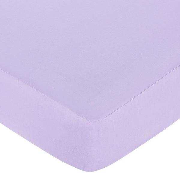 Sweet JoJo Designs Purple Princess Fitted Crib Sheet