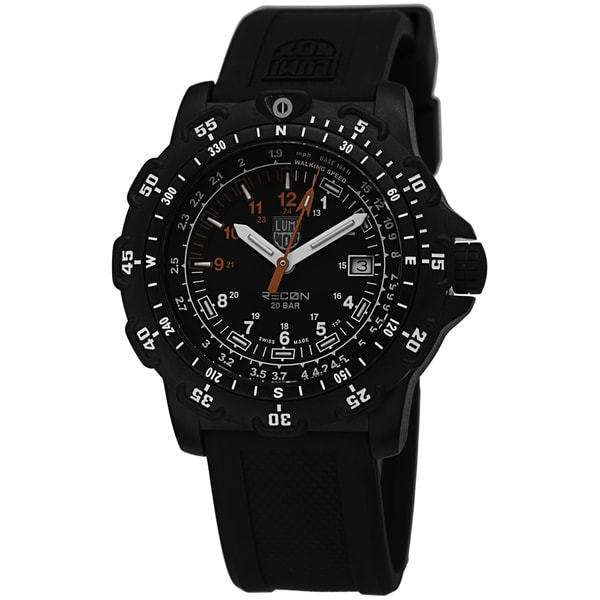 Luminox Men's A8822.MI 'Recon Land' Black Dial Black Rubber Strap Swiss Quartz Watch