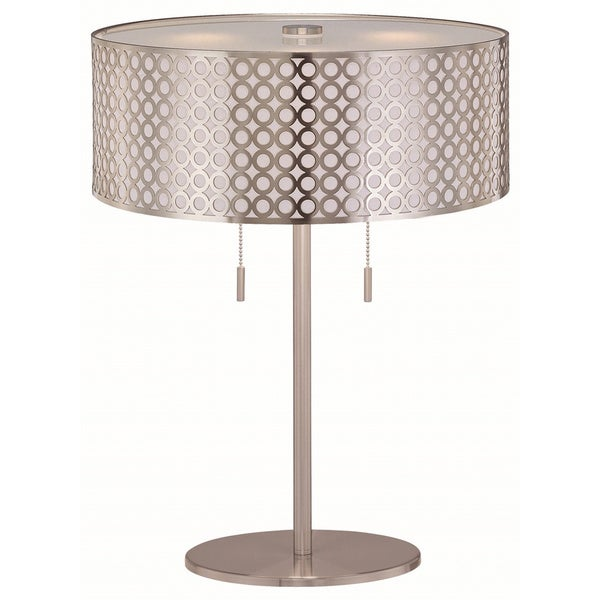 Lite Source Netto 2-light Table Lamp Polished Steel