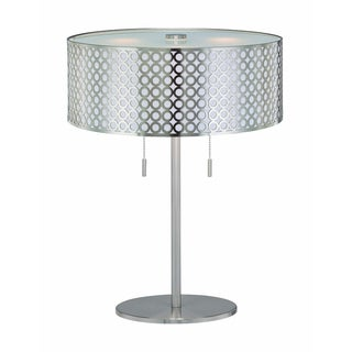 Decenni Custom Furniture 'Neto' Silvertone Retro Modern Table Lamp