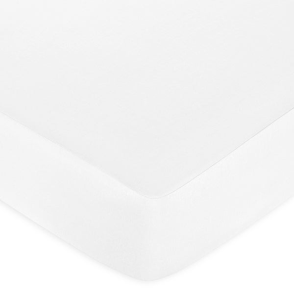 Sweet JoJo Designs White Fitted Crib Sheet