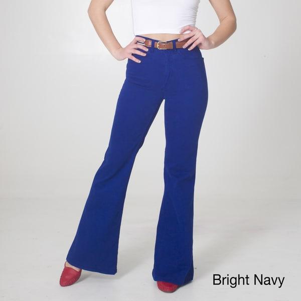 American Apparel Women's Stretch Twill Wide Leg Pants