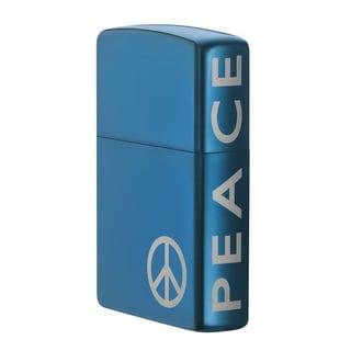 Zippo Peace Blue Lighter
