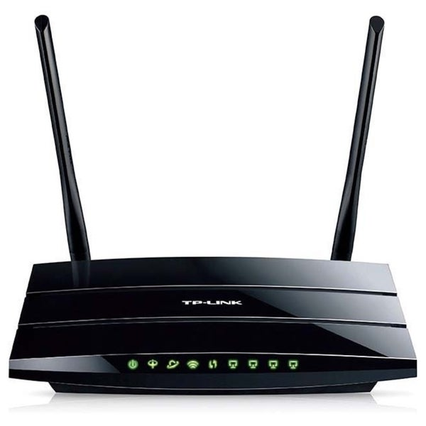 TP-LINK TD-W8970 Wireless N300 Gigabit ADSL2+ Modem Router, 2.4Ghz 30