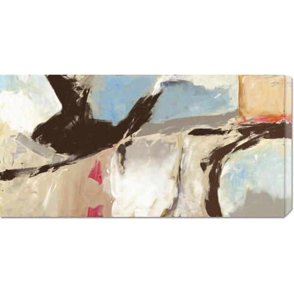 Big Canvas Co. Chaz Olin 'Aqua and Greige' Stretched Canvas Art