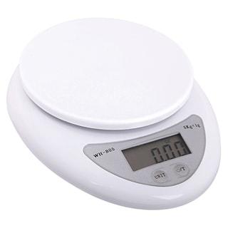 BasAcc White 11-lb Digital Kitchen Scale
