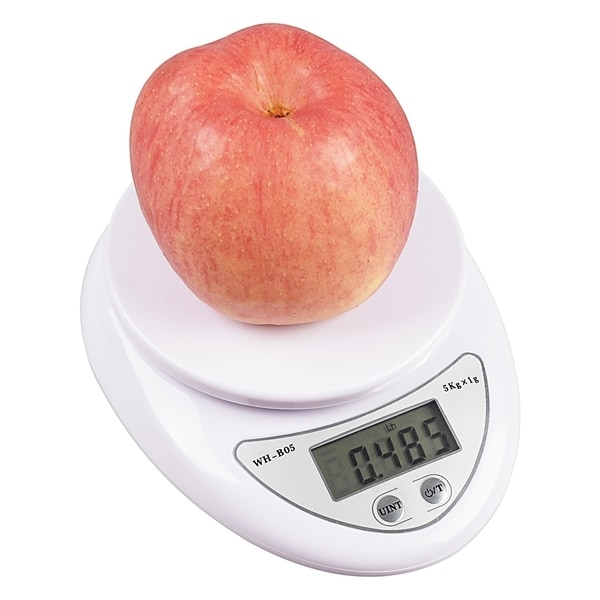 Insten White 11lb/ 5kg Digital Kitchen Food Scale