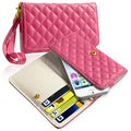 BasAcc Hot Pink Universal Leather Wallet Case