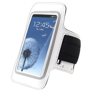 BasAcc White Armband for Samsung Galaxy S III/ S3 i9300