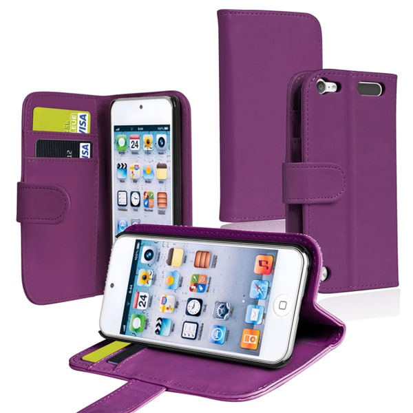 BasAcc Wallet Case with Card Holder for Apple iPod Touch Generation 5