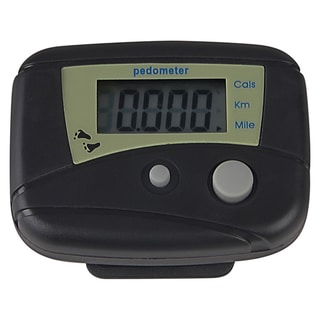 BasAcc Black Mini Digital LCD Pedometer