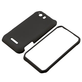 BasAcc Black Snap-On Rubber Coated Case for Motorola Photon Q XT897