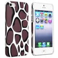 BasAcc Warm Grey Leopard Rear Rubber Coated Case for Apple iPhone 5