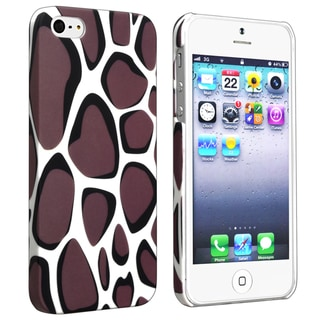 BasAcc Warm Grey Leopard Rear Rubber Coated Case for Apple iPhone 5/ 5S