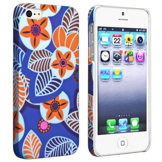 BasAcc Flower Rear Style 23 Rubber Coated Case for Apple iPhone 5