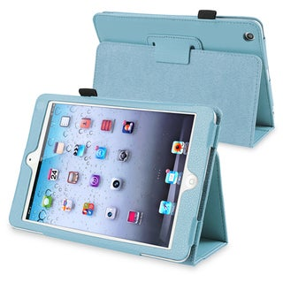 BasAcc Blue Leather Case with Stand for Apple� iPad Mini