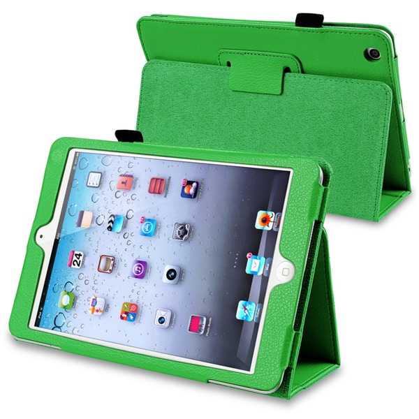 INSTEN Green Leather Tablet Case Cover with Stand for Apple iPad Mini 1/ 2 Retina Display