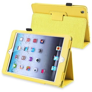 BasAcc Yellow Leather Case with Stand for Apple� iPad Mini