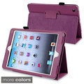BasAcc Purple Leather Case with Stand for Apple? iPad Mini