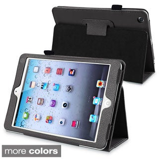 BasAcc Black Leather Case with Stand for Apple iPad Mini