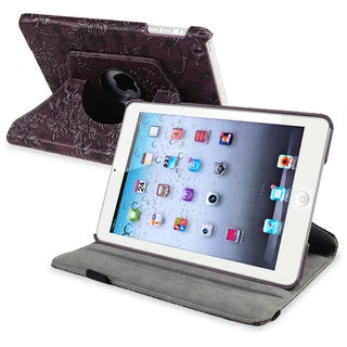 BasAcc Purple 360-degree Swivel Leather Case for Apple� iPad Mini