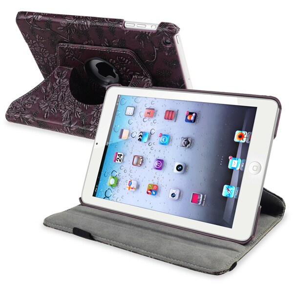 BasAcc Purple 360-degree Swivel Leather Case for Apple® iPad Mini