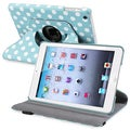 BasAcc Blue/ Dot 360-degree Swivel Leather Case for Apple iPad Mini