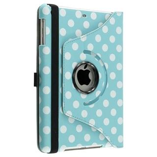 BasAcc Blue/ Dot 360-degree Leather Case for Apple iPad Mini 1/ 2 Retina Display