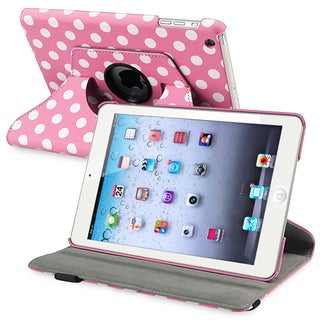 INSTEN Pink/ Dot 360-degree Leather Tablet Case Cover for Apple iPad Mini 1/ 2 Retina Display