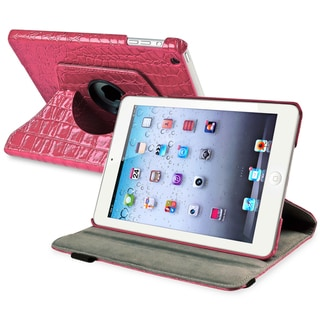 BasAcc Hot Pink 360-degree Swivel Leather Case for Apple� iPad Mini