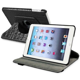 BasAcc Black 360-degree Swivel Leather Case for Apple� iPad Mini