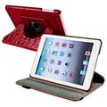 BasAcc Red 360-degree Swivel Leather Case for Apple iPad Mini