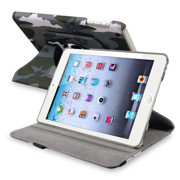 BasAcc Gray 360-degree Swivel Leather Case for Apple® iPad Mini