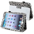 BasAcc White Leopard Leather Case with Stand for Apple iPad Mini